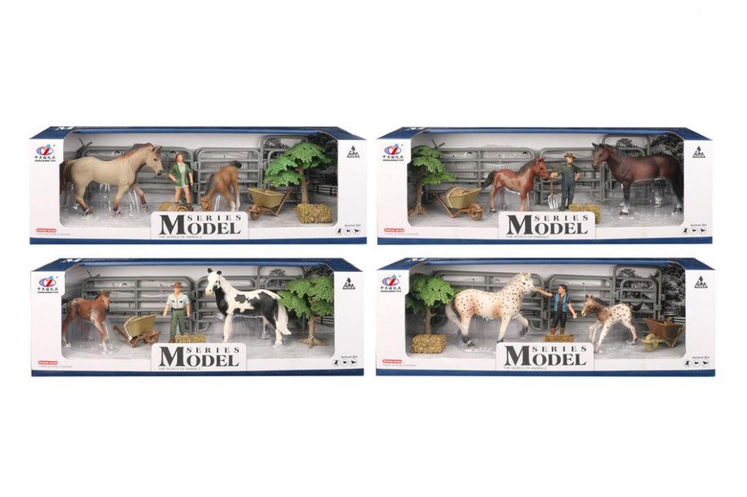 Alltoys Sada Model Svět zvířat sada 2 s figurkou, ohradou, stromem,