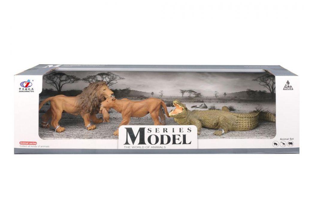 Alltoys Sada Model Svět zvířat lev, lvice, krokodýl