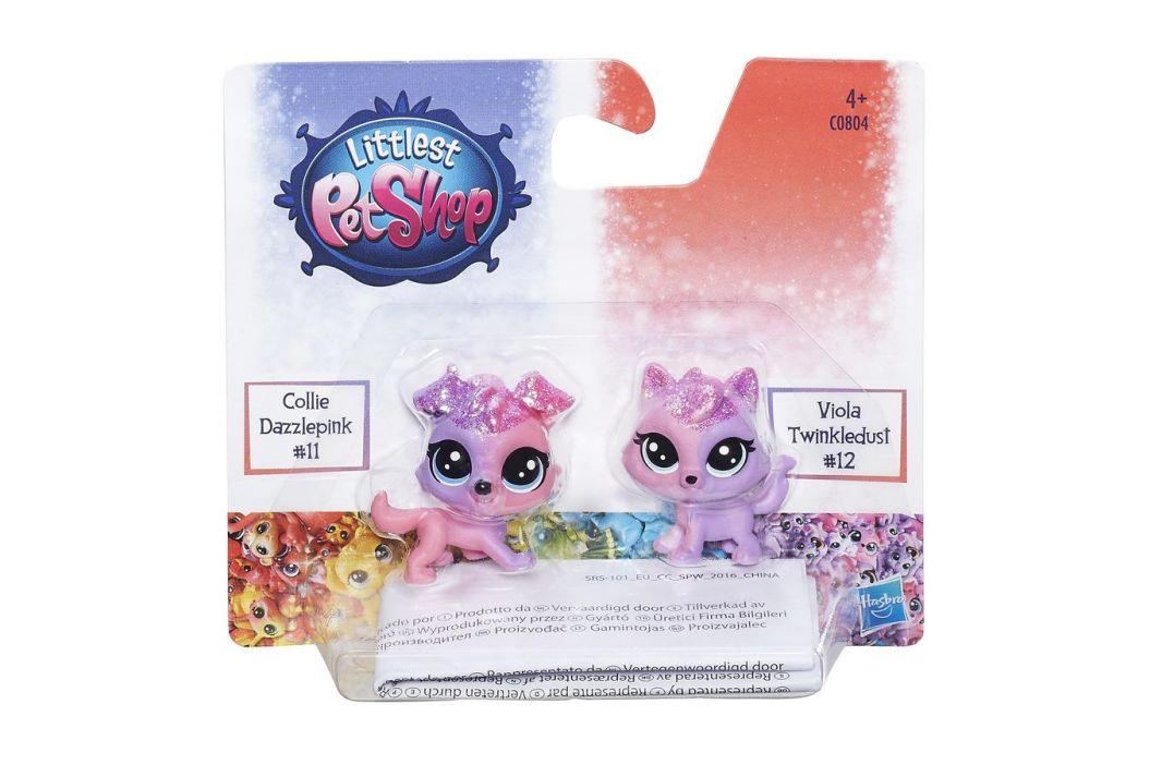 Littlest Pet Shop Hasbro Littlest Pet Shop Duhová zvířátka Seafoam Dazzleshell a Brillia Beryl