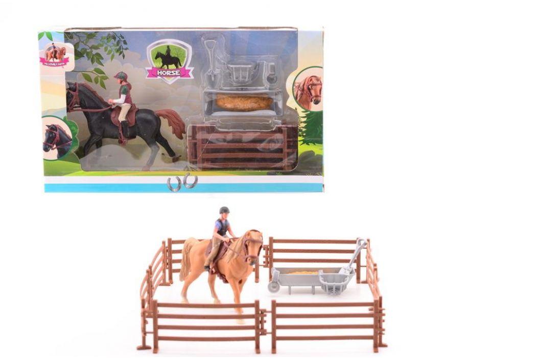 Alltoys Koník s jezdcem a překážkami