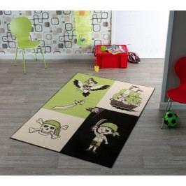 Hanse Home Dětský koberec Pirát, 140x200 cm - zelený