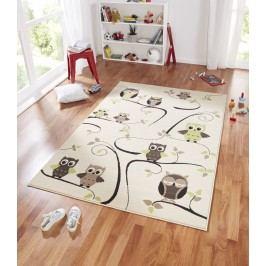 Hanse Home Dětský koberec Sovičky, 140x200 cm - zeleno-béžový