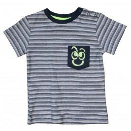Carodel Chlapecké proužkované tričko - šedé