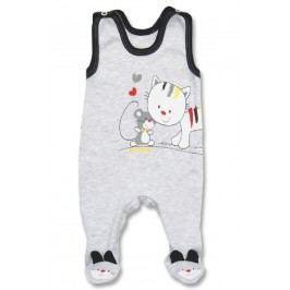 Lafel Dívčí dupačky Kitten - šedé