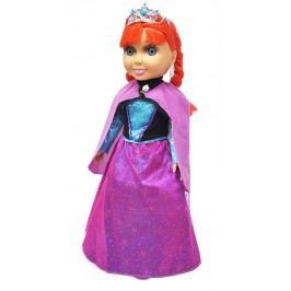 Rappa Panenka zimní království princezna zrzka s příslušenstvím, 38 cm