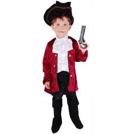 Rappa Karnevalový kostým kapitán Hook, vel. S (110-116)