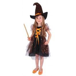 Rappa Karnevalový kostým čarodějnice/halloween hvězdička, vel. L (128-156)