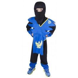 Rappa Karnevalový kostým NINJA modro-žlutý, vel. S (110-116)