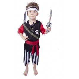 Rappa Karnevalový kostým pirát s šátkem vel. M (116-128)
