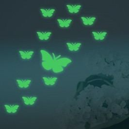 Walplus Svítící samolepka na zeď Motýlci