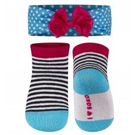 SOXO® Dívčí set ponožek a čelenky - barevný