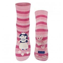 SOXO® Dívčí svíticí ponožky s princeznou - růžové