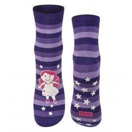 SOXO® Dívčí svíticí ponožky s andělem - fialové
