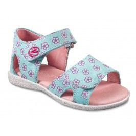 Richter Dívčí květované sandály - světle modré