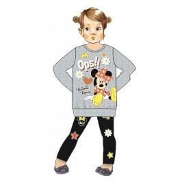 Disney by Arnetta Dívčí souprava legín a mikiny Minnie - šedo-černá