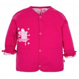 G-mini Dívčí oboustranný kabátek Myška - růžový