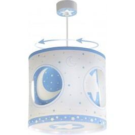 Dalber Dětské rotující závěsné svítidlo Moon Blue EOL