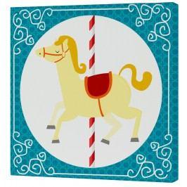 Mr. FOX Nástěnný obraz Spit Spot - žlutý kůň, 27x27 cm
