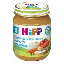 HiPP BIO Zeleninová omáčka s rýží a kuřecím masem 6x125g