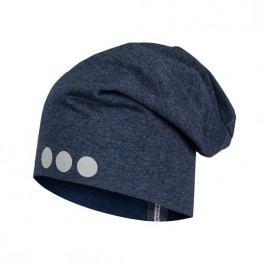 Lamama Dětská čepice s reflexním potiskem - šedo-modrá