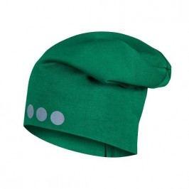 Lamama Dětská čepice s reflexním potiskem - zelená