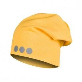 Lamama Dětská čepice s reflexním potiskem - žlutá