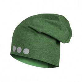 Lamama Dětská čepice s reflexním potiskem - žíhaná zelená