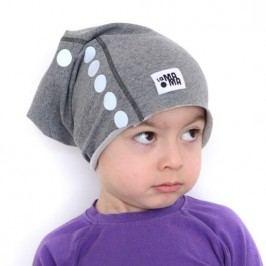 Lamama Dětská čepice s reflexním potiskem - šedá