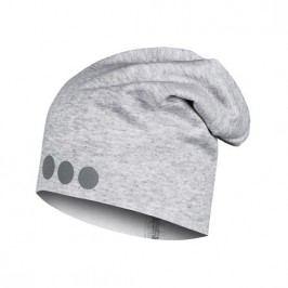 Lamama Dětská čepice s reflexním potiskem - světle šedá