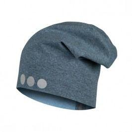 Lamama Dětská čepice s reflexním potiskem - modro-šedá