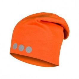Lamama Dětská čepice s reflexním potiskem - oranžová