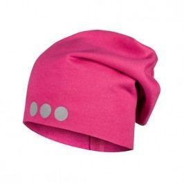 Lamama Dívčí čepice s reflexním potiskem - růžová