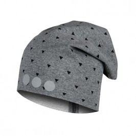 Lamama Dětská vzorovaná čepice s reflexním potiskem - šedá