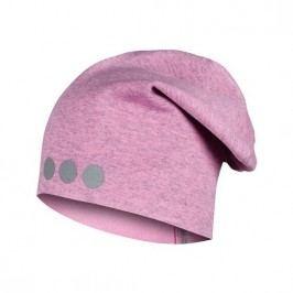 Lamama Dívčí čepice s reflexním potiskem - světle růžová