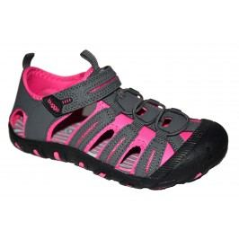 Bugga Dívčí sandály - růžovo-šedé