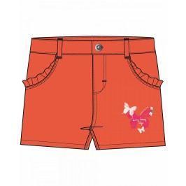 Blue Seven Dívčí šortky s motýlky - oranžové