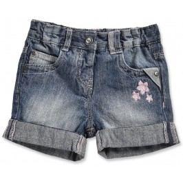 Blue Seven Dívčí džínové kalhoty s kytičkami - modré