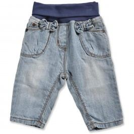 Blue Seven Dívčí džínové kalhoty s mašličkami - světle modré