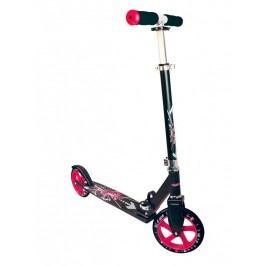 Authentic Sports Dětská skládací koloběžka - průměr kol 205 mm - černo-růžová