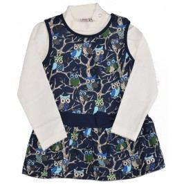 Topo Dívčí dvojkomplet trička a šatů - barevný