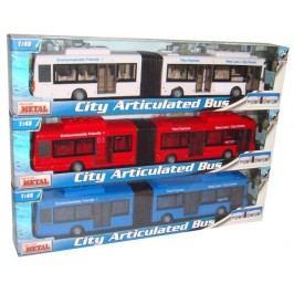 Mac Toys 1:48 Autobus kloubový - Bílý