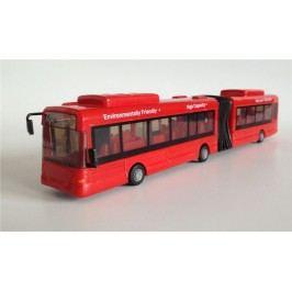 Mac Toys 1:48 Autobus kloubový - Červený