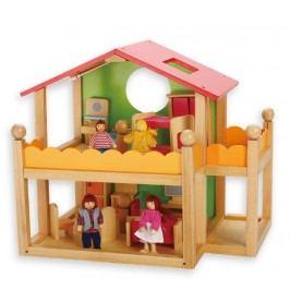 Edukalu Domeček pro panenky s nábytkem