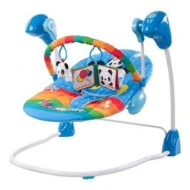 Sun Baby Dětské lehátko s hudebním centrem Swing, modré