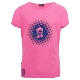 Trollkids Dívčí tričko Logo s UV 30+ - růžové