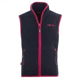 Trollkids Dívčí fleecová vesta Arendal - modro-červená