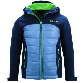 Trollkids Chlapecká softshellová bunda Lysefjord - modro-zelená
