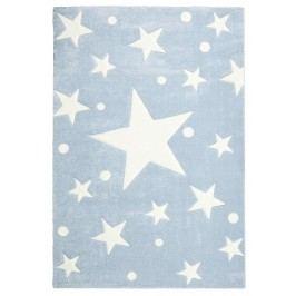 Happy Rugs Dětský koberec modrý s hvězdami, 80x150 cm