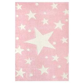 Happy Rugs Dětský koberec růžový s hvězdami, 80x150 cm