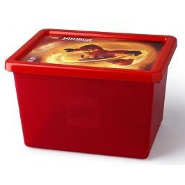 LEGO® Storage LEGO® Ninjago™ velký úložný box - transparentní červený